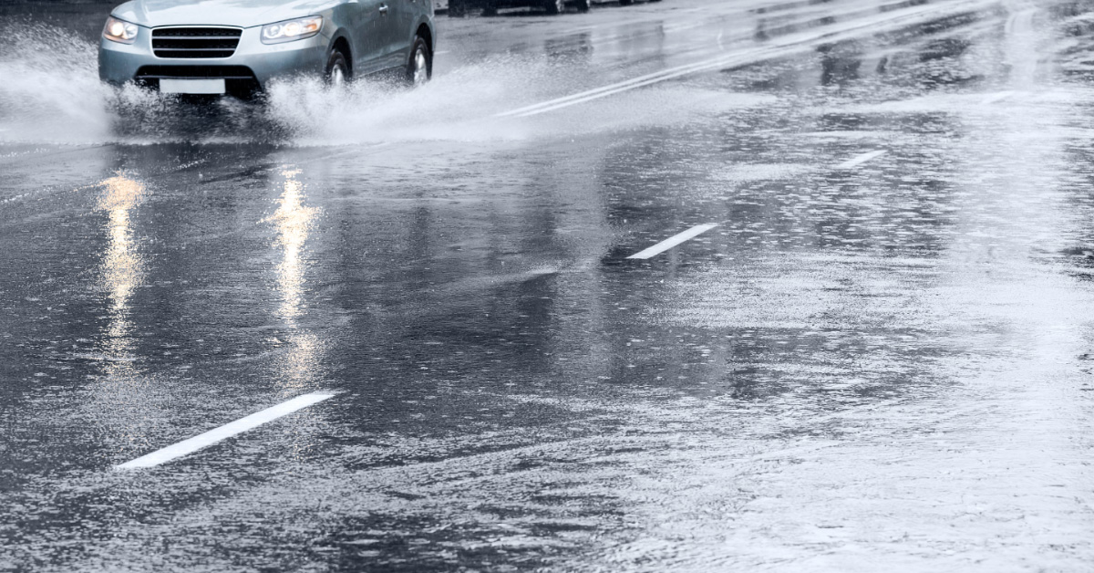 Driving in wet weather