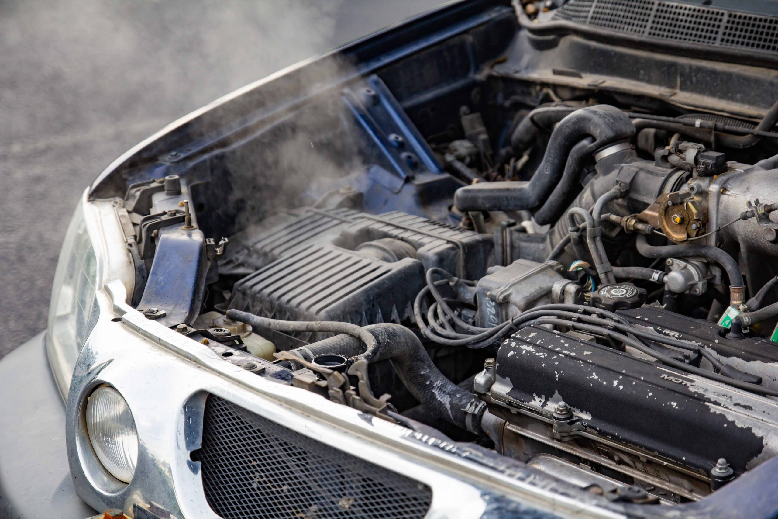 car engine is overheating
